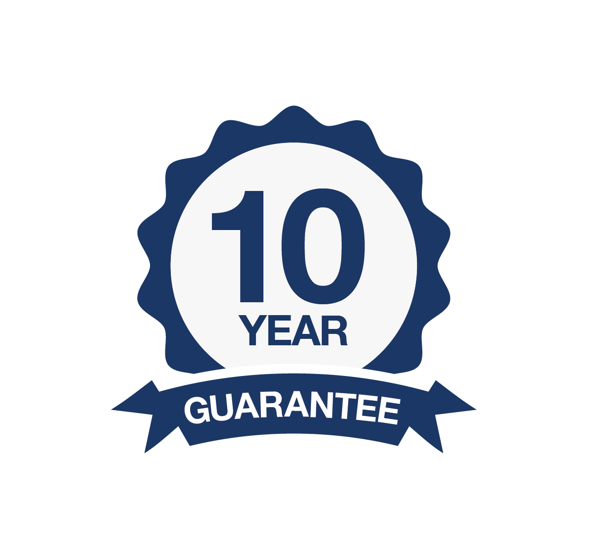 10 years guarantee logo