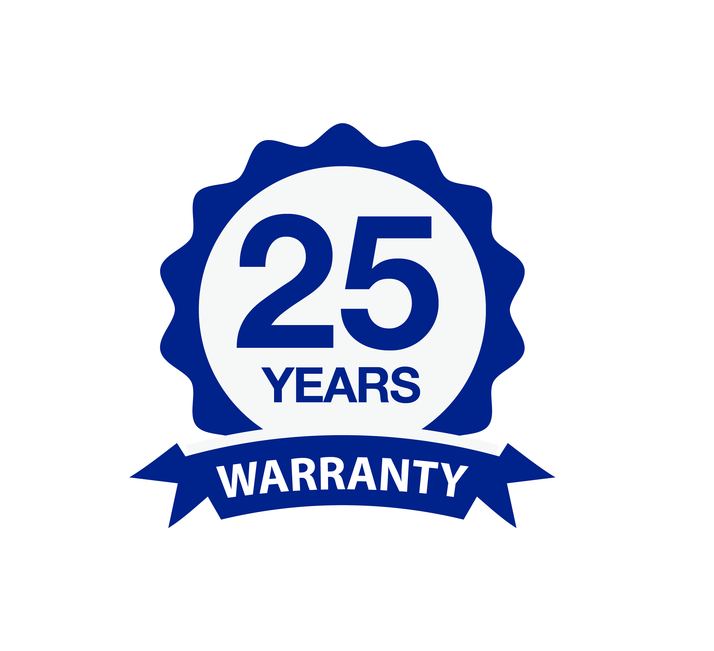 25 years guarantee logo