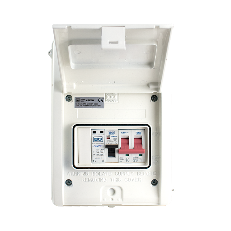 and en 61643-11 standards the spd enclosure can be fitted next to any  exiting or new consumer unit of any brand where surge protection is required