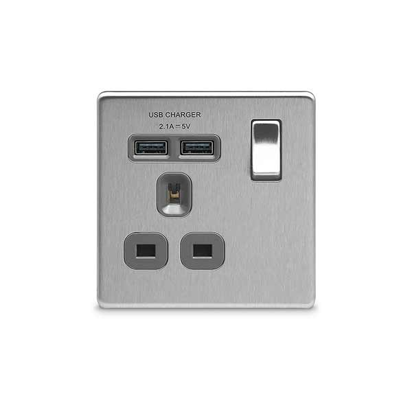 Enjoyable 13A Switched Socket With Usb Charger Decorative Bg Electrical Wiring Database Pengheclesi4X4Andersnl