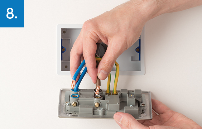 how to upgrade cooker control outlet bg electrical rh bgelectrical uk Wire Outlet Box in Length Outlet Box Wiring Ground